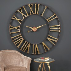 Mindy Brownes Kaison Wall Clock Antique Brass