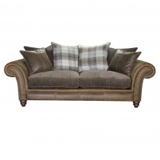 Alexander & James Hudson 3 Seater Scatter Back Sofa Option 5 Fabric & Leather