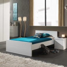 Vipack Lara Small Double (120cm) Bedstead White