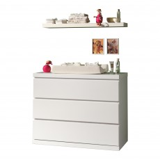 Vipack Lara 3 Drawer Chest of Drawers White