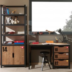 Vipack Alex Study Desk Pine & Black