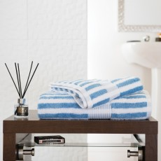 Deyongs Bliss Stripe Hand Towel Cobalt