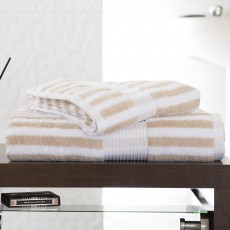 Deyongs Bliss Stripe Hand Towel Biscuit