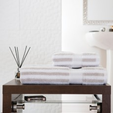 Deyongs Bliss Stripe Hand Towel Silver