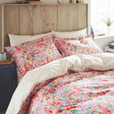 Joules Hollyhock Meadow Double Duvet Cover Multi
