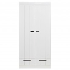 WOOOD Connect 2 Door & 2 Drawers Wardrobe White