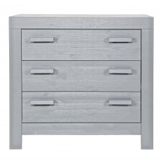 WOOOD New Life 3 Drawer Chest of Drawers Concrete Grey