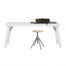 WOOOD Klap Desk White