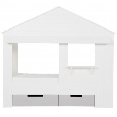 WOOOD Huisie Set Of 2 Underbed Storage Drawers White