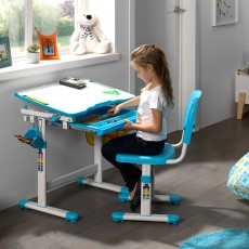 Vipack Comfortline Adjustable & Tiltable Study Desk Including Adjustable Chair Blue