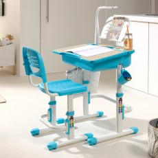 Vipack Comfortline Adjustable Study Desk With Light & Adjustable Chair Blue