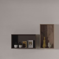 Vipack Emiel 2 Wall Shelves Oak & Marakesch Brown
