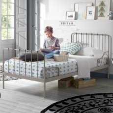 Vipack Alice Single (90cm) Bedstead Grey