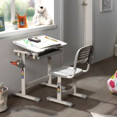 Vipack Comfortline Adjustable & Tiltable Study Desk Including Adjustable Chair Grey