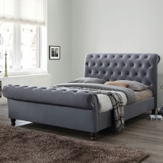 Diana Super King (180cm) Bedstead Fabric Grey