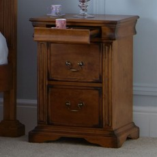 Belle 3 Drawer Bedside Locker Birch
