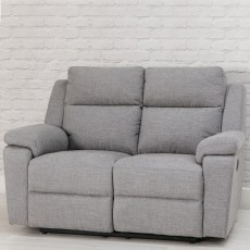 Houston Manual Reclining 2 Seater Sofa Fabric Beige