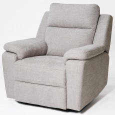 Houston Manual Reclining Armchair Fabric Beige