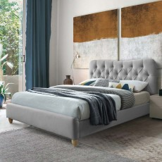 Sophie Single (90cm) Bedstead Fabric Grey
