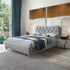 Sophie Small Double (120cm) Bedstead Fabric Grey