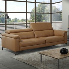 Egoitaliano Jazz 3 Seater Sofa With Electric Recliner RHF Microfibre Fabric