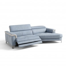 Egoitaliano Jazz 3 Seater Sofa With Electric Recliner LHF Microfibre Fabric
