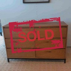 Billie 3+3 Drawer Chest of Drawers Oak WAS €779 NOW €499 (Available in Kilkenny)