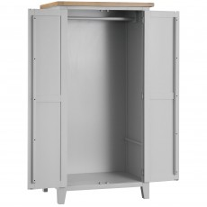 Tilly Double Wardrobe Grey