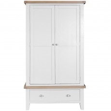 Tilly Double Wardrobe With 1 Drawer White