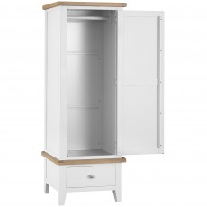 Tilly Single Wardrobe With 1 Drawer White