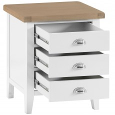 Tilly Extra Large 3 Drawer Bedside Locker White