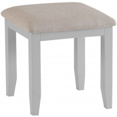 Tilly Bedroom Stool With Upholstered Fabric Seat Pad Grey