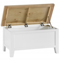 Tilly Blanket Box White