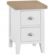 Tilly Small 2 Drawer Bedside Locker White