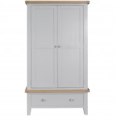Tilly Double Wardrobe With 1 Drawer Grey