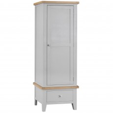 Tilly Single Wardrobe With 1 Drawer Grey
