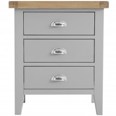 Tilly Extra Large 3 Drawer Bedside Locker Grey