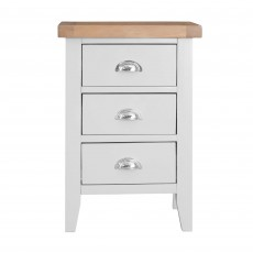 Tilly Large 3 Drawer Bedside Locker White