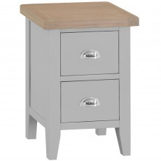 Tilly Small 2 Drawer Bedside Locker Grey
