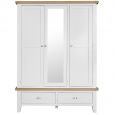 Tilly Triple Wardrobe With 2 Drawers White