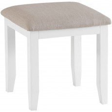 Tilly Bedroom Stool With Upholstered Seat Pad White