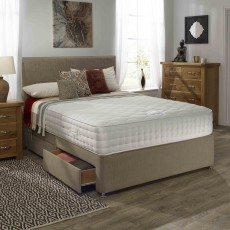 Relyon Aurora Memory Deluxe Double (135cm) Padded Top 4 Drawer Divan Set
