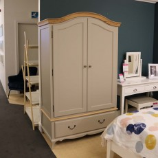 Ellie 2 Drawer Wardrobe Taupe & Antique Handles (Available in Kilkenny) RRP 1,299 OUR PRICE €749
