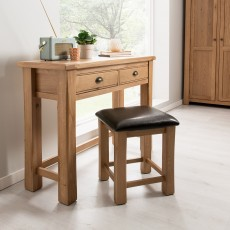 Brid Dressing Table & Stool Set White Oak