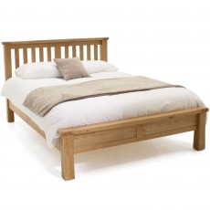Brid Double Bedstead (135cm) Low End White Oak