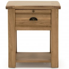 Brid 1 Drawer Bedside Locker White Oak