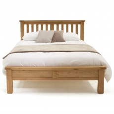 Brid King Bedstead (150cm) Low End White Oak