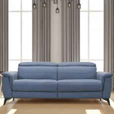 Petrella Electric Reclining 3 Seater Sofa Fabric F20