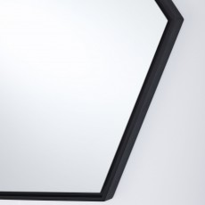 Deknudt Lina Hexagon Wall Mirror Black