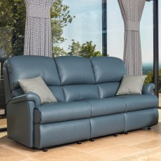 Sherborne Nevada Standard Electric Reclining 2 Seater Sofa Leather Grade 1